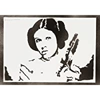 Princesa Leia STAR WARS Hecho A Mano - Handmade Street Art Poster