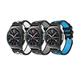 YaYuu Samsung Galaxy Watch 46mm/Gear S3 Frontier/Classic Armband, Ersatz Uhrenarmband Weiches Silikon Sportarmband für Gear S3 Frontier/S3 Classic/Moto 360 2nd Generation 46 mm Smart Watch