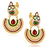 Sukkhi Eye-Catchy Peacock Gold Plated Au...