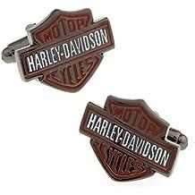 Harley Davidson gemelos Motor ciclos único Hd Logo Fancy Gemelos para hombre
