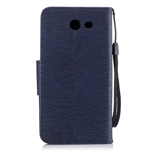 Voguecase Pour Samsung Galaxy J3 2017 Coque, Étui en cuir synthétique chic avec fonction support pratique pour iPhone 5S (Ours-Marron)de Gratuit stylet l'écran aléatoire universelle Ours-Bleu foncé