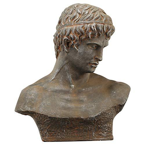 Antiguo busto romano griego, Dios griego Estatua Busto Escultura Retro Busto romano Decoración para el hogar Librería Ornamento