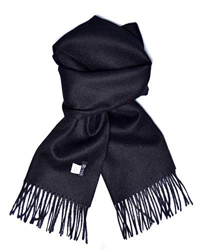 Preisvergleich Produktbild Mitos Natural Elegance Hipster Schwarzer Schal aus 100% Wolle Alpaka, eleganter Winterschal, Wollschal aus feiner 100% Alpaka Wolle, weich, warm, pures elegantes Naturhaar unisex, natur