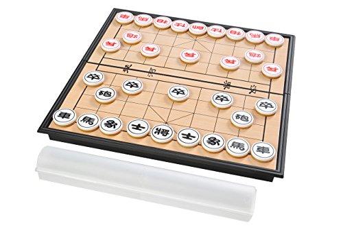 Azerus Basic Line: Spielset klassisches chinesisches Schach / Xiangqi mit magnetischem Klapp-Spielbrett, Brett Größe M - 25cm x 25cm (SC5699 DE)