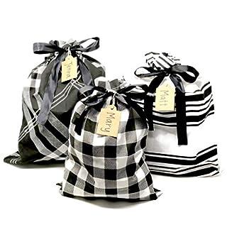 Appleby Lane Wiederverwendbare Stoff-Geschenktüten Large Set schwarz