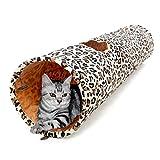 Lang Katzentunnel XXL Spieltunnel Kaninchen- Schöne Leopard Farbe