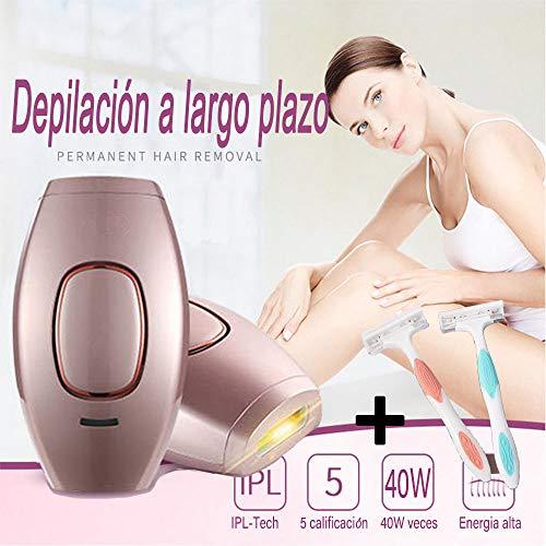 Depiladora de Luz Pulsada Depilación Sistema de Depilación IPL, LEONMAR 400000 Flashes Beauty Device...