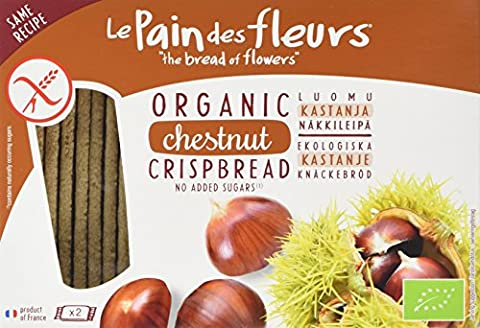Le Pain Des Fleurs Organic Chestnut Crispbread 125 g (Pack of 3)