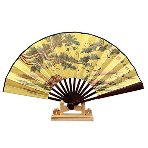 Claiery Abanico chino de bambú Tai Chi Kung Fu plegable, hecho de...