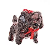 ALIKEEY Electric Short Floss Dog CM© toys Electric Dog Walking Barking CM© toy Moving Dog Gift