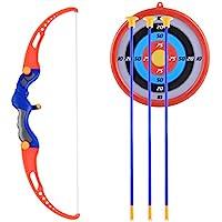 Leic Juego de Arco y Flecha emuladores para niños Juego de Disparos de simulación al Aire Libre Juego de Juguetes para niños niñas