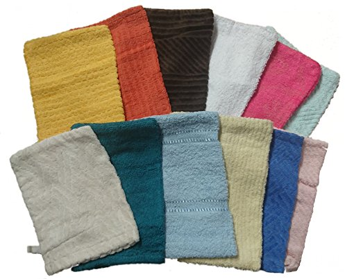 12-x-100-cotton-soft-touch-towelling-washing-mitts-absorbent-flannel-face-body-scrub