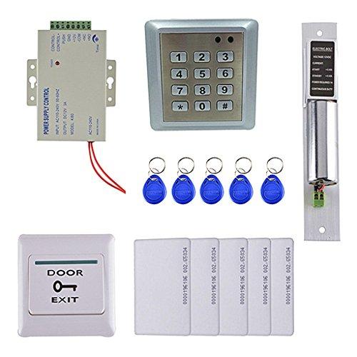 MagiDeal DIY Vollständige Komplette 125KHZ RFID Karte 1 Tür Zutrittskontrolle Kit mit Elektrischen Elektrischen Schloss