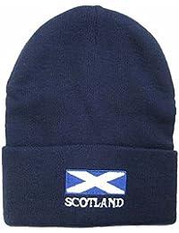 Mens Scotland Flag Embroidered Winter Beanie Hat