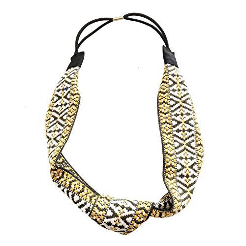 Mitlfuny Haare Frisuren Set,Haar Zubehör Styling Set,Hair Styling Accessories Kit Set,Frauen-ethnische Webart-Stirnband-kurzes Haar-Kopfschmuck-Zusätze