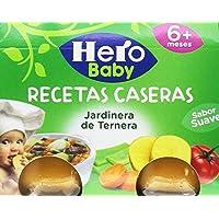 Hero Baby - Babyrecetas Jardinera De Ternera .2 x 190 g - , Pack de 6