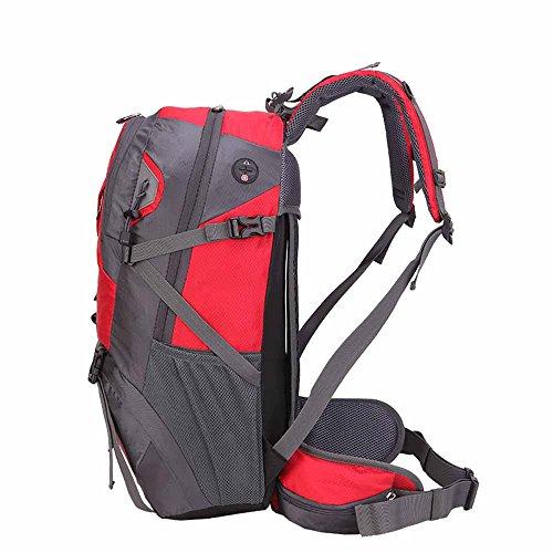 AllureFeng Wasserdicht und reißfest Casual Outdoor-40L Sporttaschen Rucksack Rucksack professionelle Bergsteigen Tasche Black
