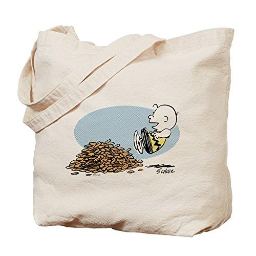 Cafepress-Charlie Brown leaves-Borsa di tela naturale, tessuto in (Autumn Leaves Tessuto)