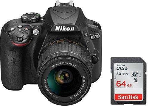 Nikon D3400 + 18-55 AFP DX VR, Cámara réflex digital de 24,2...