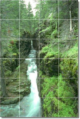 FOTOS DE CASCADAS COCINA TILE MURAL 7  48X 182 88CM CON (24) 12X 12AZULEJOS DE CERAMICA
