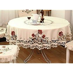 Los manteles bordados se utilizan para las tablas de diversos tamaños y tipos y los refrigeradores que lavan la cama de la cabecera de la cocina , 150 circles