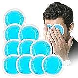 Rotondo gel pacchetti per terapia caldo/freddo riutilizzabile con panno backing come antidolorifico veloce adatto per bambini adulti, blue-10Pack immagine