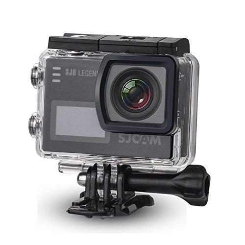 SJCAM SJ6 Kit {Inclduing Extra Battery, Charger, SD-Card, 15-in-1 Accessories} SJ6000 LEGEND 2″ LCD Touch Screen 2880×2160 4K Action Camera Novatek NT96660 Panasonic MN34120PA CMOS - Black