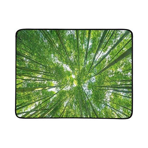 KAOROU Bambuswald Schöne Grüne Natürliche Tragbare Und Faltbare Deckenmatte 60x78 Zoll Praktische Matte Für Camping Picknick Strand Indoor Outdoor Reise