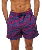 Minetom Hombre Bañadores De Natación Pantalones Cortos Bermudas Shorts Verano Sport Moda Surf Calzoncillos Trajes De Baño Flamencos Imprimir Pájaro EU L