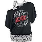 AC/DC Rock Or Bust - Studio Recordings Bat Double Layer Girl-Shirt schwarz/grau