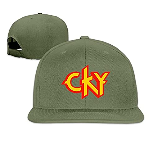 Huseki CKY Heavy Metal Band Logo Bam Margera Custom Men's Ball Caps ForestGreen
