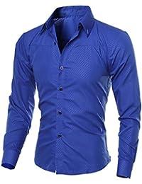 Blouse de Costume pour Hommes, GreatestPAK Chemises d affaires imprimées à  Carreaux de Mode eea6c3d298b