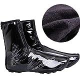 DFDO Couverture de chaussures de vélo, Couvre-chaussures de vélo réfléchissants imperméables, Coupe-vent de bicyclette Verrouillage couvre-chaussures de pluie Botte Protecteur Pieds Guêtres Couvre-pie