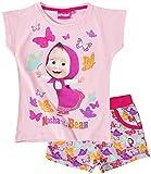 Mascha und der Bär Mädchen T-Shirt und Shorts - rosa - 134