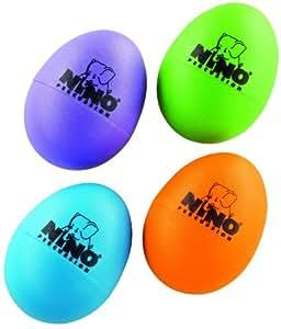 Nino Percussion NINOSET540-2 Egg Shaker Sortiment vierteilig – musikalische Früherziehung