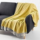 La Redoute Interieurs Plaid Dungi Gre Taille Unique Gelb
