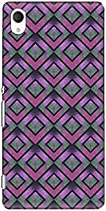 The Racoon Lean printed designer hard back mobile phone case cover for Sony Xperia M4 Aqua. (Lilac Retr)