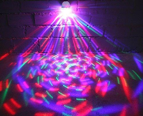 DJ LED Party Glühbirne E27 RGB Licht-Effekt Kristall Beleuchtung Disco-Kugel Lampe (Disco Beleuchtung Kugel)
