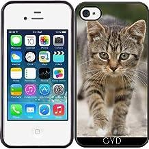 Funda de silicona para Iphone 4/4S - Animales Gato Gatito Mascota by WonderfulDreamPicture