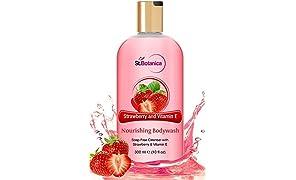 St.Botanica Strawberry & Vitamin E Shower Gel - 300 Ml
