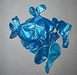 Sachsen Versand 50 Luft-Ballons-türkis metallic-Luft-Ballons-glänzend-metall-Feier-Deco-Geburtstag-Fete-Helium-geeignet EU Ware