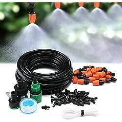KINGSO Auto Bewässerungssystem Garten Bewässerung verstellbar Zerstäuberfunktion Kits System DIY pflanzen Wasser Gartenschlauch Automatische Kits (Wasser/Klebeband Schnellverbinder) Flow Drip