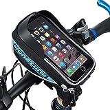MOREZONE Bicicletta Borsa manubrio per MTB Bici Borse Anteriore Smartphone Sacchetto Adatto Per Cellulari Sotto di 5.5 inch (blu)