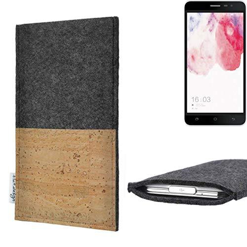 flat.design vegane Handy Hülle Evora für Hisense F20 Dual-SIM Kartenfach Kork Schutz Tasche handgemacht fair vegan