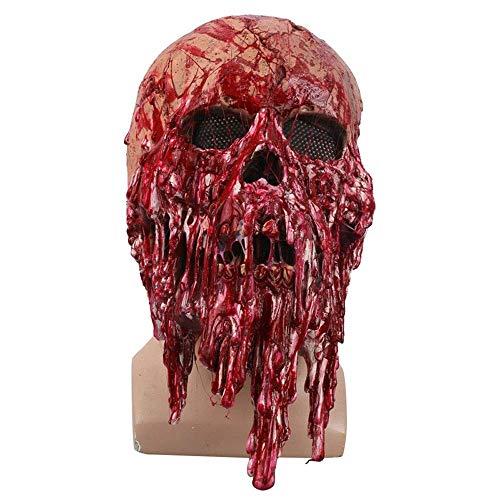 YaPin Horror Maske Kopfbedeckung Maskerade Funny Show Halloween Geist Gesicht Blutungen Maske Kopfbedeckungen Requisiten