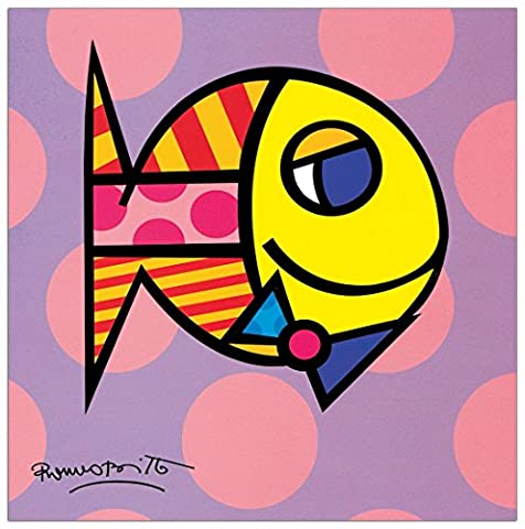 BRITTO - Striped fish (Decorative Panel 19x19 cm)