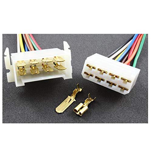 Tama Kabel/Draht Multi Plug Block Steckverbinder 8-Fach mit Crimpklemmen (2 Set Stecker/Buchse)
