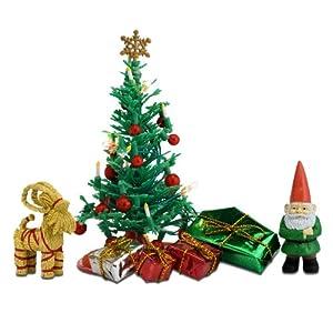 Lundby 60.6045.00 - Conjunto del árbol de Navidad, Mini muñeca con Accesorios