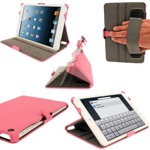 Wifi Mini 2 Ipad 32gb (igadgitz Pink Rosa PU Leder Tasche Ledertasche Schutz Hülle Schutzhülle Etui Case für Neu Apple iPad Mini Wi-Fi 16GB 32GB 64GB. Mit Sleep / Wake Funktion, Integrierte Handschlaufe)