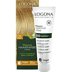 Logona cosmetici naturali Piante di Colore dei capelli crema 200Biondo Rame, 150ML